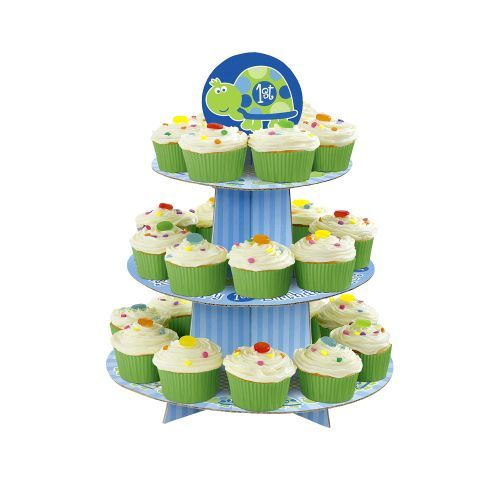 First Birthday Turtle Cupcake Stand - Turtle Party Supplies