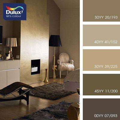 Цветовая палитра красок DULUX  Золото  – это самый дорогой метал. Именно оно позволяет чувствовать себя настоящим королем. Для любителей роскоши подойдет золотистый интерьер. Все оттенки данной палитры содержат в себе мягкие и спокойные тона, поэтому такие сочетания можно смело создавать в спальной комнате и в читабельных залах.