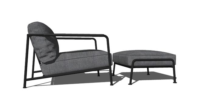 Large preview of 3D Model of AERO chair and stool