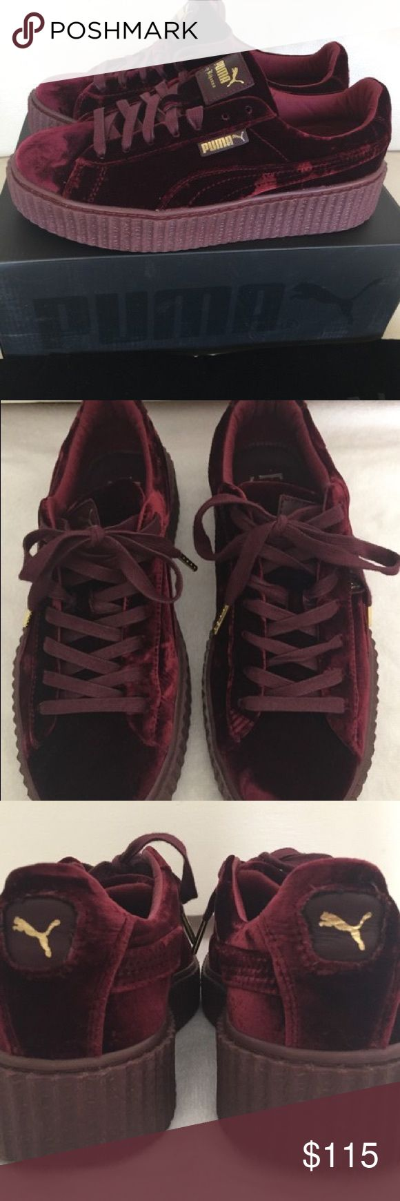 Rihanna Fenty Creepers RARE Rihanna velvet Creepers. Comes with box. Great condition. Can be dressed up or down. Puma Shoes