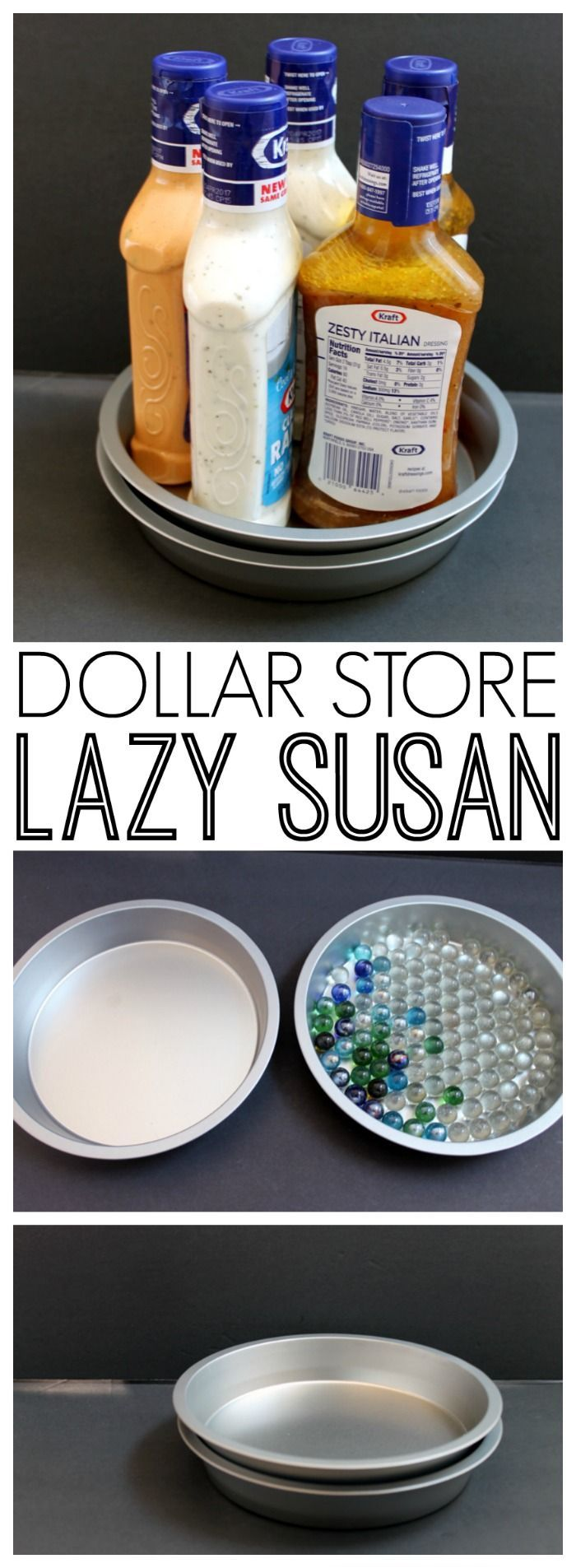 Dollar Store Lazy Susan Organizing Idea