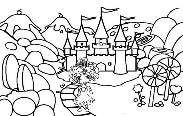 Candy Castle Coloring Pages Of Candyland Castle Coloring Page Candy Castle Coloring Pages