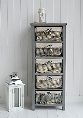 white and grey bedroom furniture. st ives grey 4 drawer low basket storage furniture bedroom from the white and