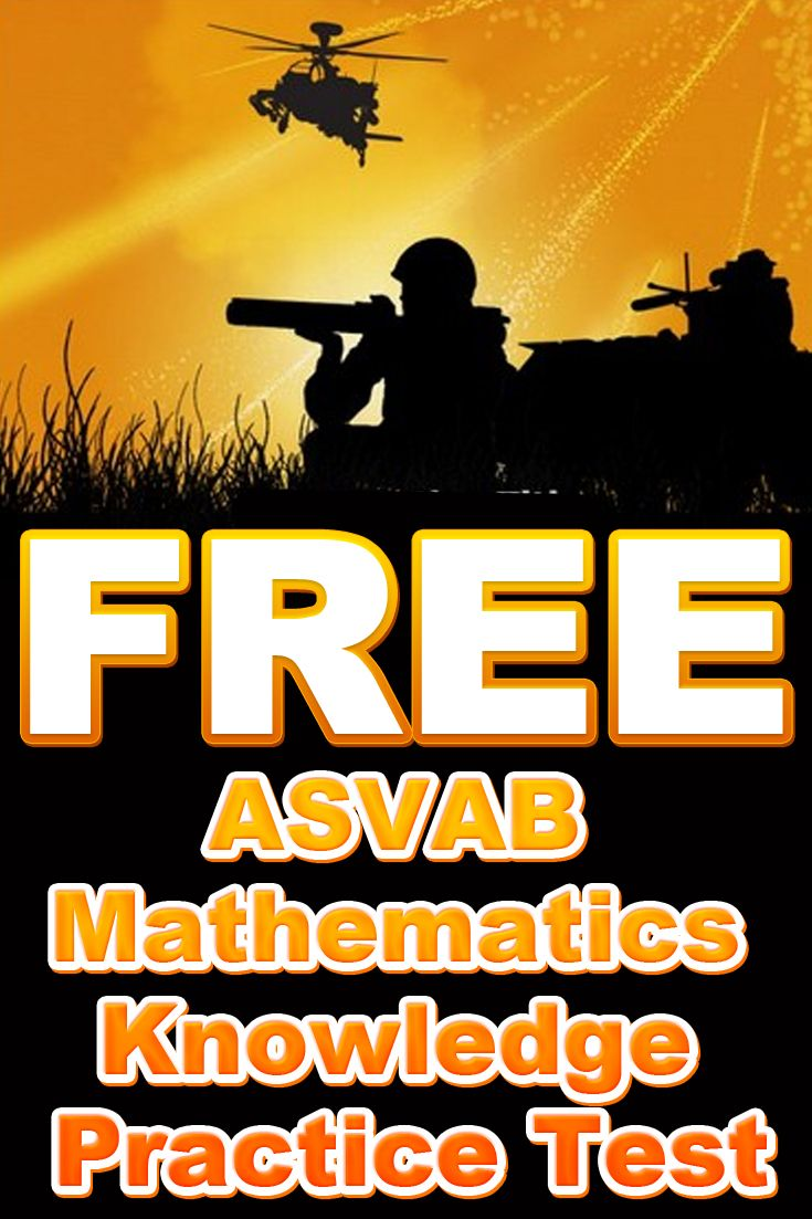Free ASVAB Mathematics Knowledge Practice Test http//www