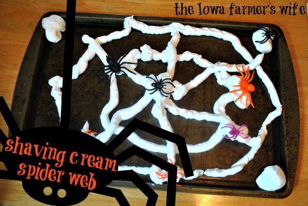 The Iowa Farmer's Wife: Shaving Cream Spider Web