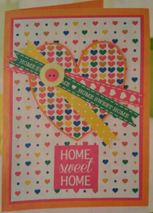 New Home Card Idea Using Patterned Paper From Magazines
