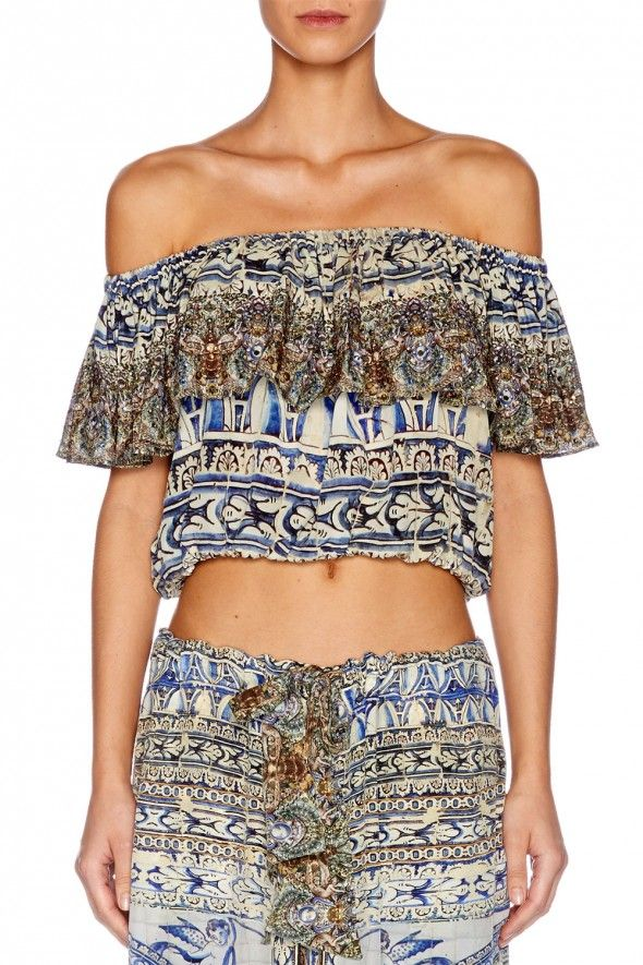 midriff frill top -pillars of agua- by camilla available in 1, 2, 3
