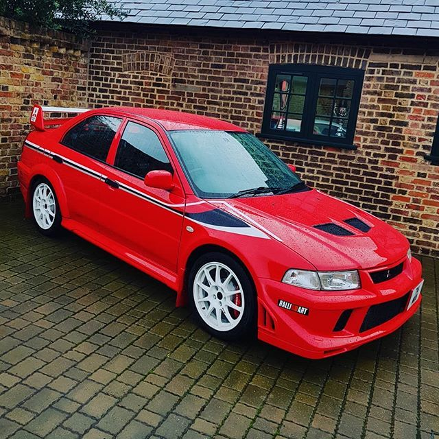 The Mitsubishi Evo 6 Tommi Makinen Sitting In The Rainy Courtyard At Dk Today And Now Available For Sale On Www Dkeng Co Uk On Mitsubishi Evo Mitsubishi Evo