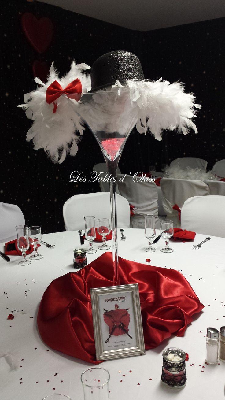 Ambiance Cabaret Moulin rouge par les Tables d'Okiss - Mariage de N & C