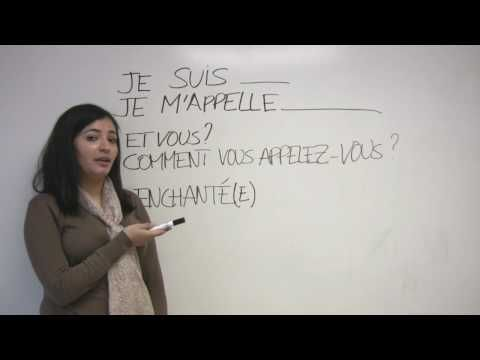 Introducing Yourself in French