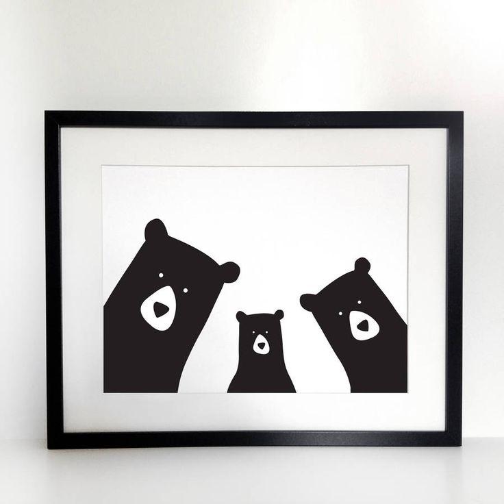 family 'selfie' portrait, build your own, a3 prints by heather alstead design   notonthehighstreet.com