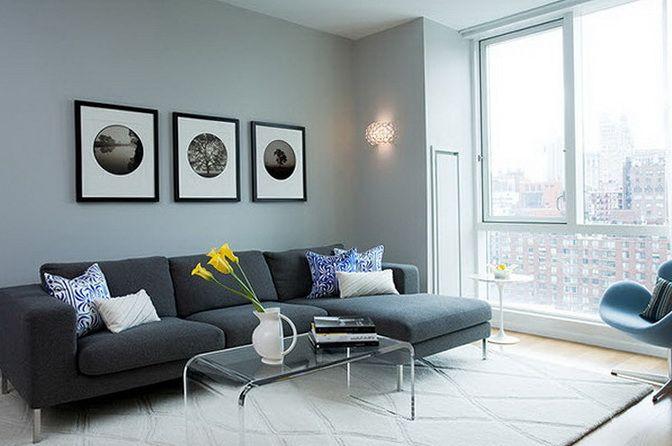 Dark Gray Sofas Interiors With Gray And Inviting Sofas