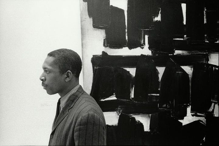 John Coltrane, Guggenheim Museum by William Claxton, 1960.