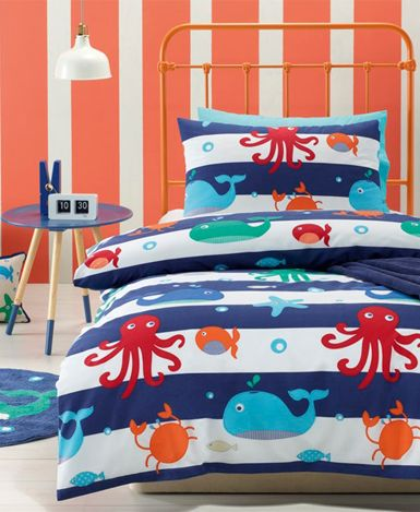 Sea Creatures Duvet Cover Set