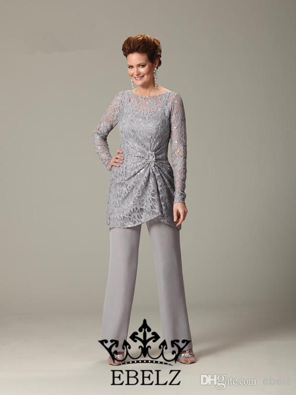 !New Arrival High Quality A Line Modern Formal Dress Long Sleeves Mother of the Bride Pant Suits Pant Set Custom Made DH044, $91.1   DHgate.com