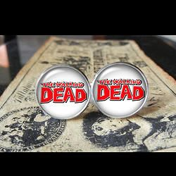 Walking Dead Graphic Novel Logo www.kustomkufflinks.com   Find us at these as well:  http://www.bonanza.com/booths/Kustom_Kufflinks  http://www.rebelsmarket.com/rebel-store/kustom-kufflinks