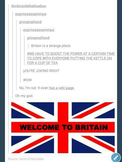 I love being British.
