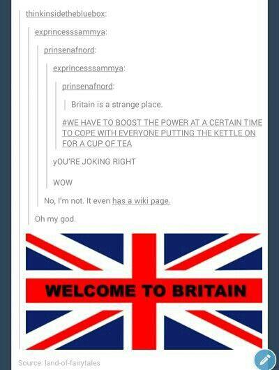 I love being British.