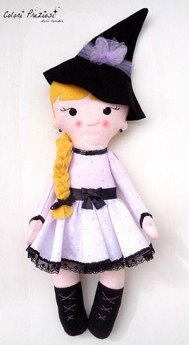 Sweet felt witch #thecreativefactory #handmadehalloween #handmade #feltdoll #sewing #witch