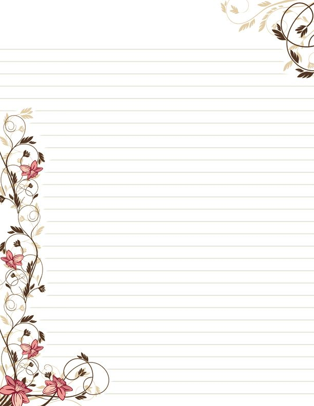 2580 best Lined stationery images on Pinterest Stationary - free lined stationery
