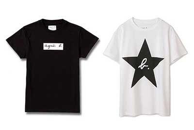 アニエスベー×アダム エ ロペ、コラボTシャツ - ロゴやスターをあしらった90'sデザイン
