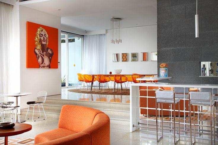 Lounge area, Luna2 private hotel, Bali. Interior design by Melanie Hall. #popart #marilynmonroe #interiordesign #melaniehalldesign