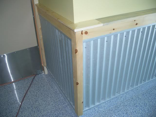Pics Of My Garage And Shop The Garage Journal Board Wainscoting Corrugated Roofing House Design