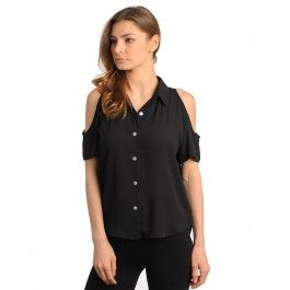 Camisa Negra Sexy T124
