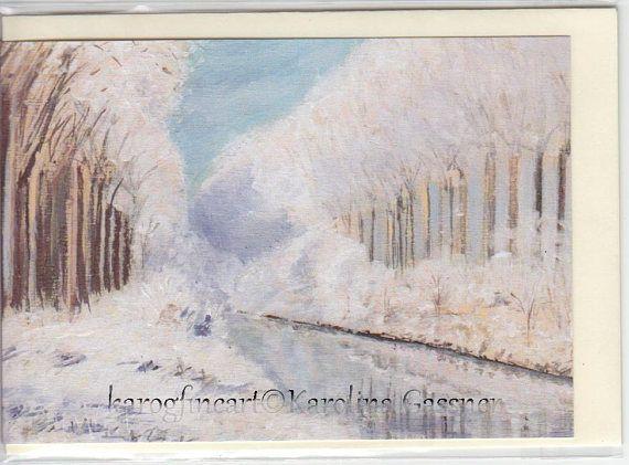 Frozen landscape Christmas Card Greeting Card Xmas Card