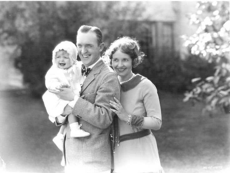 Stan Laurel with wife Lois, and their baby daughter Lois Laurel.