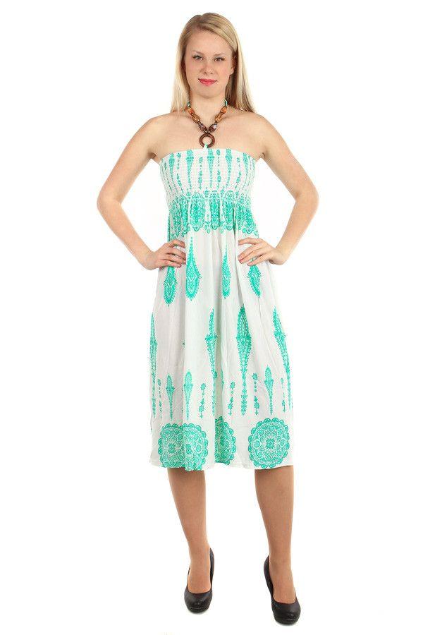 b33d1f6e9351 Vzorované letní šaty za krk - koupit online na Glara.cz  letnisaty   damskesaty