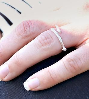 Twig Sterling Silver Ring made by Nancy Nelson Jewelry-  $50. Scoutmob Shoppe