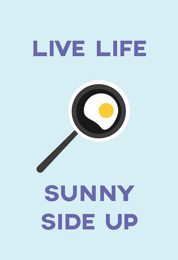 SUNNY SIDE UP Kitchen Poster Kitchen Art by EncoreDesignStudios