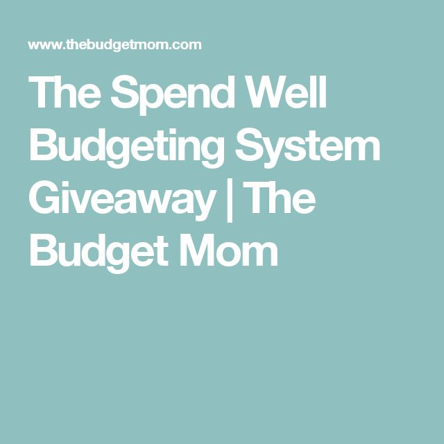 The Spend Well Budgeting System Giveaway   The Budget Mom