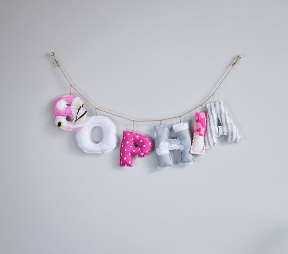 CUSTOMIZED Stuffed letters toy - words and names (Custom order) Great gift. Baby…