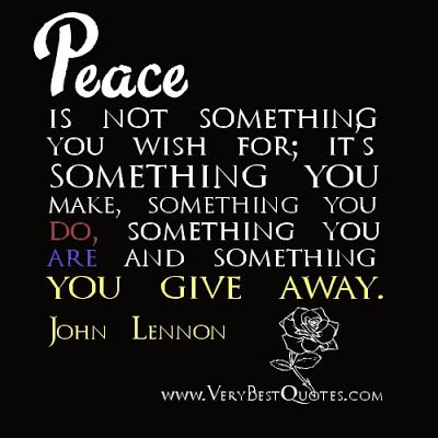 MAXMILLIAN THE SECOND: Peace is not something.......