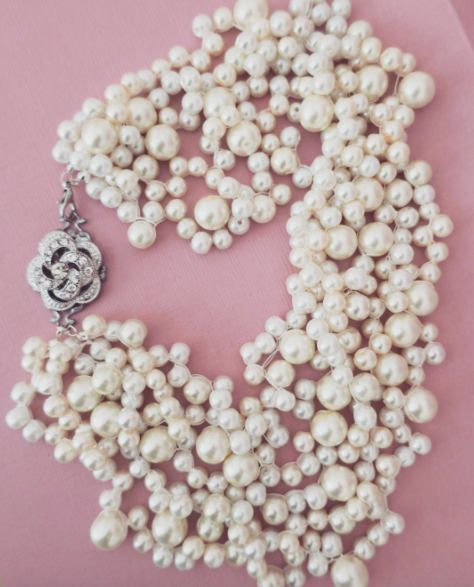 Pearl Statement Necklace #Bridal #Necklace #Wedding #Jewelry #womensjewelry