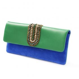 FW 2103 - Nanni Milano Electric blue suede and green