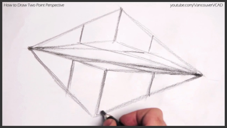 Free tutorial on drawing objects in Two Point Perspective