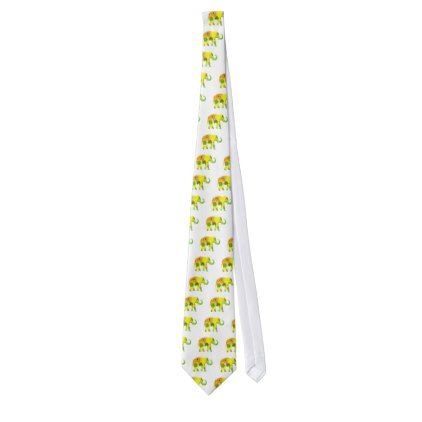 elephant floral funny tie - sunflowers sunflower gifts floral flowers cyo gift idea unique