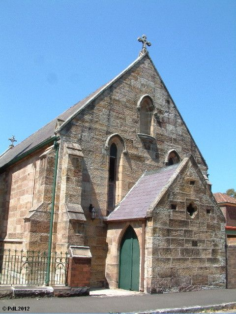 The first St Augustine's church, Balmain, Sydney (1848) was from a design by Augustus Welby Pugin, the most famous exponent of Gothic style of his period.