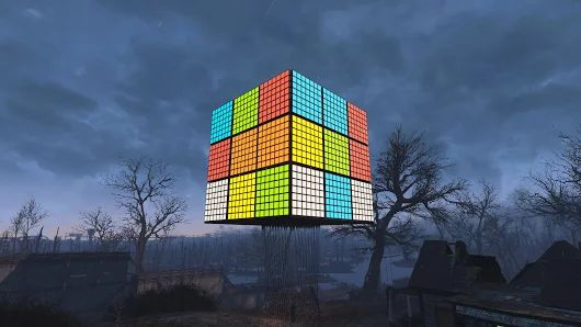 I made a giant-ass Rubik's Cube in Fallout 4