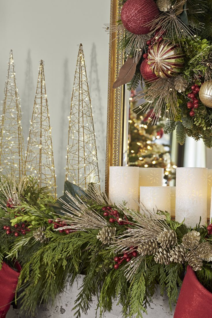For A Classic Christmas Look Drape Your Fireplace With