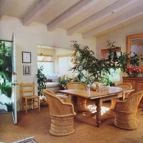 Ali Macgraw S Malibu Dining Room Photographed By Russell