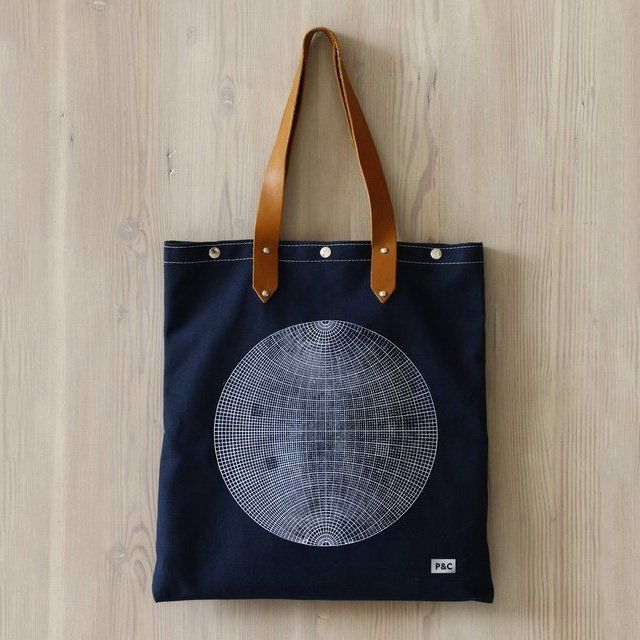 Fancy - Globe Oversized Carry On Canvas Tote by Pilot and Captain