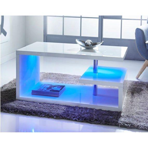 Led High Gloss Coffee Table Living Room Furniture G 0366 Etsy In 2021 Living Room Coffee Table Living Room Table Living Room Furniture