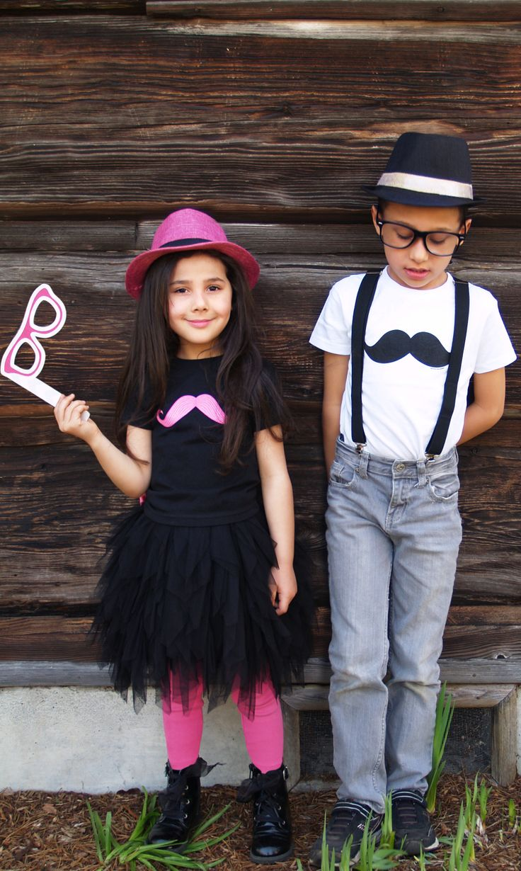 Ever seen two kids with more swag? #pink #mustache #party #BirthdayExpress