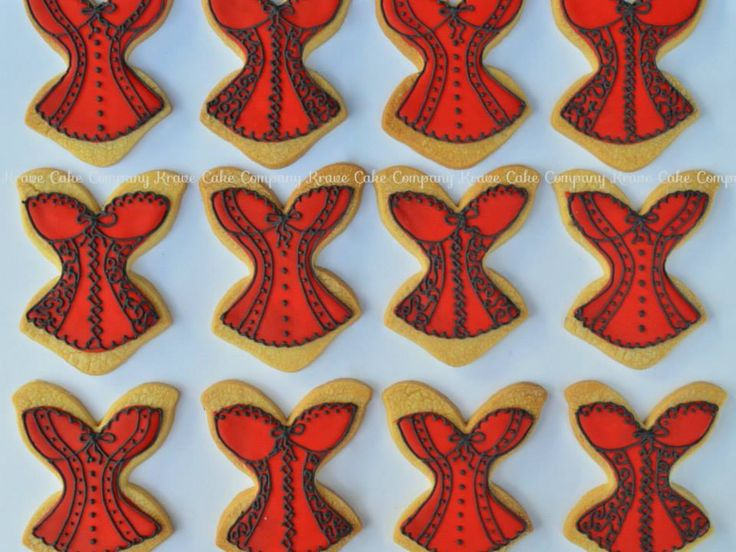 Corset cookies for a hens party