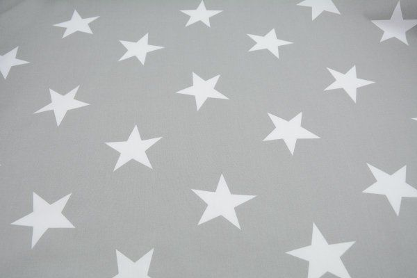 beige auf grau 140cm Baumwolldruck mit Sternen