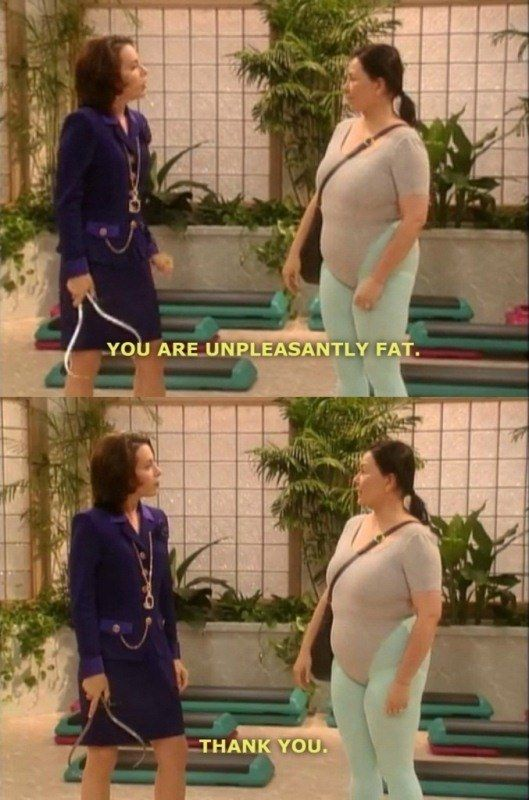 She's polite. | 21 Times Roseanne Conner Was Basically All Of Us